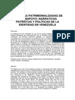 Morpheus- Memorias Patrimonializadas de Los Mapoyo Narrativas Patriotas y Políticas de La Identidad en Venezuela