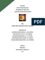 Conductores, semiconductores y aislantes