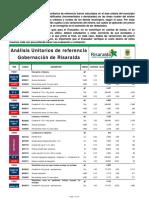 Analisis de Precios Unitarios de Referencia 2017