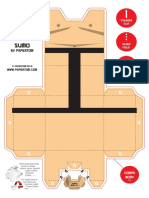Blog Paper Toy Papertoy Sumo Paper Tom Model