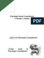 01. Psicología Social Comunitaria Concepto y Origen