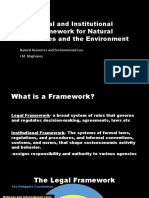 Legal and Institutional Framework for Natural Resources
