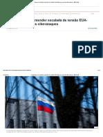 4 Perguntas Para Entender Escalada de Tensão EUA-Rússia Em Caso Dos Ciberataques - BBC Brasil