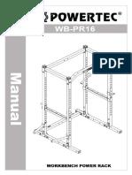 WB-PR16 Powertec Power Rack Assembly Manual
