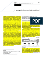 Drillability Prediction - Geological Influences in Hard Rock Drill and Blast Tunneling