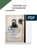 Sacrum Convivium o La Exquisitez Humana Del Coleóptero