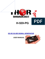 Thor Broadcast SD HD 3G SDI PATTERN GENERATOR for Encoders SDI Fiber Extenders and Sdi Modulators