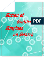 Study of digestion of starch by salivary amylase and effect of ph and temperature on it.