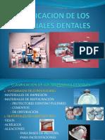2clasificacion de Los Materiales Dentales