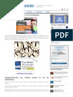 Administración Del Tiempo y La Ley de Parkinson