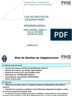 Plan de Gestión de Adquisiciones