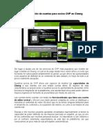 La Presentación de Cuentas Para Socios OVP en Cleeng
