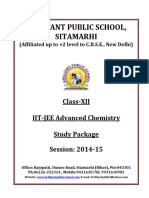 Doc 127 B.P.S. XII Chemistry IIT JEE Advanced Study Package 2014 15
