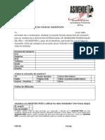 Solicitud de Ficha de Inscripción