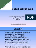 BEX305 Power User Training Slides
