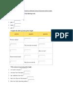 Completar Las Actividades Utilizando Las Diferentes Formas Del Presente Perfecto Simple