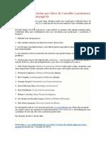 Dicas de Estudos - Olavo de Carvalho
