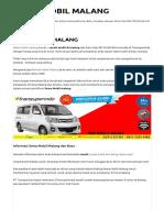 Sewa Mobil Malang Murah 081332040040