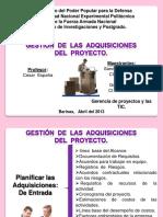 Gestic3b3n de Las Adquisiciones Del Proyectos