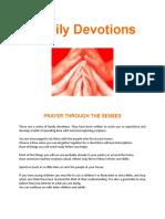 Family Devotions Through the Senses - Edited