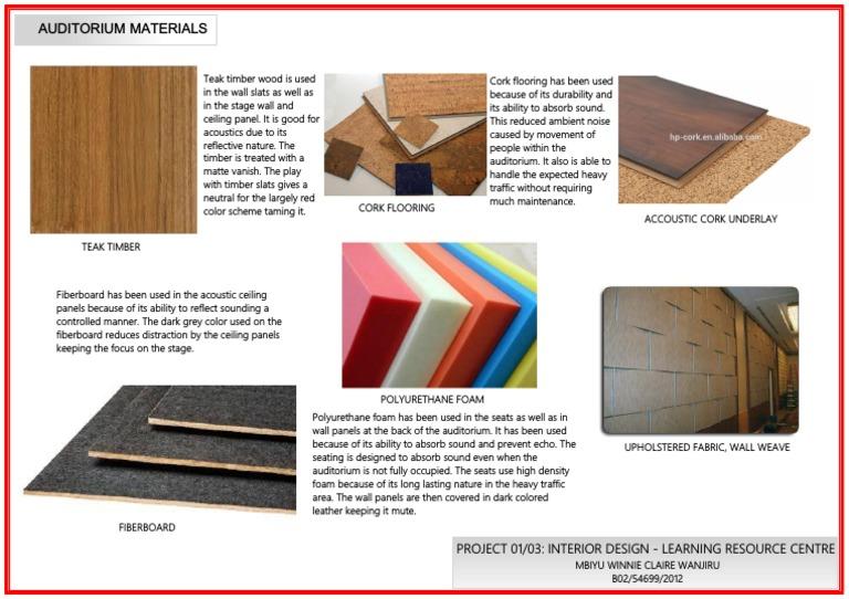 Auditorium Materials Pdf Economic Sectors Building Materials