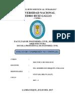 Suelos 2 - ENSAYO DE COMPRESIÓN NO CONFINADA