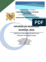 Evaluacion Reciente de Las Politicas Claves y Cuestiones Claves