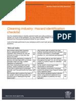 Hazard Identification Checklist Cleaning