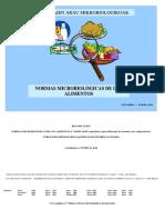 Normas Microbiologicas de Alimentos 2016