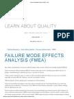 Failure Mode Effects Analysis (FMEA) - ASQ