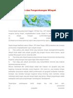 Konsep Wilayah Dan Pengembangan Wilayah