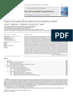 Avances en La Producción y Aplicación de N-Butanol Como Biocombustible