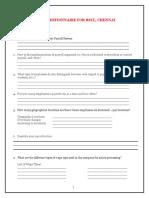 BBP Questionnaire for RSCL_HCM