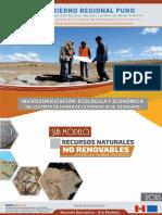 Microzonificacion Ecologica Economica Submodelo Recursos No Renovables Distrito Saman