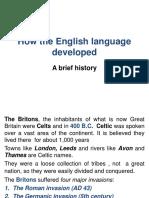 How the English Language Developed (Moodle)