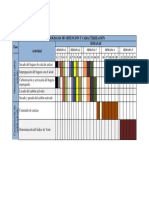 Cronograma de Obtención y Caracterización