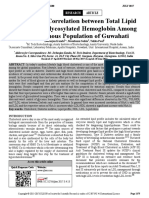 Correlation Study Between Total Lipid Profile and Glycosylated Hemoglobin Among the Indigenous Guwahati Population