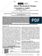 Drought Induced Biochemical Changes in Commiphora Wightii