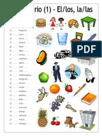 22127 Vocabulario 1 Complete Con El Los La Las