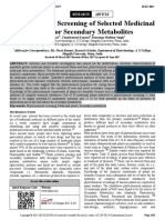 Phytochemical Screening of Selected Medicinal Plants for Secondary Metabolites