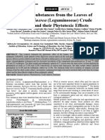 Tephrosia Cinerea (Leguminoseae) Crude Leaves Extracts and Their Phytotoxic Effects