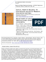 Sexual Health of Latino Migrant Day Labourers Under Conditions of Structural Vulnerability