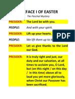 Preface I of Easter