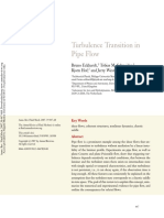 Turbulance Transition in Pipe Flow