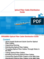 RRU-BBU Optical Fiber Cable Distribution Guide (GCUW)