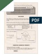 Day 6 Venn Diagram, Permutation, Combination & Probability