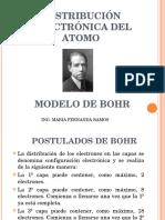 1.3 DISTRIBUCION ELECTRONICA MODELO ATÃ'MICO DE BOHR.ppt