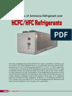 Advantages of Ammonia Refrigerant Over HCFCHFC Refrigerants