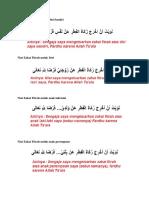 Do'a dan Niat Zakat