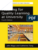 Teaching for Quality Learning at University - Chapter 1